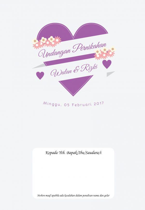 Undangan Pernikahan Tangerang A06 - Walimahanid | 081211418687